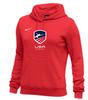 Nike Women's USAF Club Fleece Pullover Hoodie - Scarlet