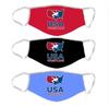 USA Wrestling  Non-Medical Face Covering 3 Pack - Red/Black/Light Blue