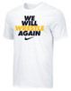 Nike Youth We Will Wrestle Again Tee - White/Black/Gold