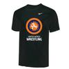 Nike Youth UWW Circle Logo Tee - Black/Orange/Blue