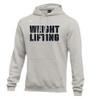 Nike Men's Weightlifting Club Fleece Hoodie - Grey/Black
