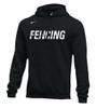 Nike Men's Fencing Club Fleece Hoodie - Black/White