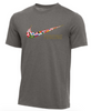 Nike Youth Fencing Multi Flag Tee - Dark Grey Heather
