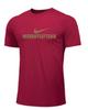 Nike Men's Weightlifting Tee - Gold/Red