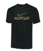 Nike Men's Wrestling Camo Tee - Black