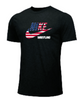 Nike Men's Wrestling USA Flag Tee - Black