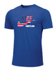 Nike Men's Wrestling USA Flag Tee - Royal