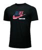 Nike Youth Wrestling USA Flag Tee - Black