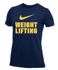 Nike Women's Weightlifting Dri-Fit S/S Crew Tee - Navy/Gold
