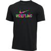 Nike Men's Wrestling Tee - Floral/Black