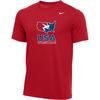Nike Men's USA Wrestling Tee - Red