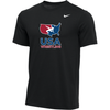 Nike Youth USA Wrestling Tee - Black