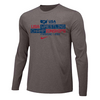 Nike Men's USA Wrestling Championships Fargo 2021 Long Sleeve - Grey/Navy
