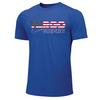 Nike Men's USA Wrestling Fargo 2021 Tee - Royal/Red/White