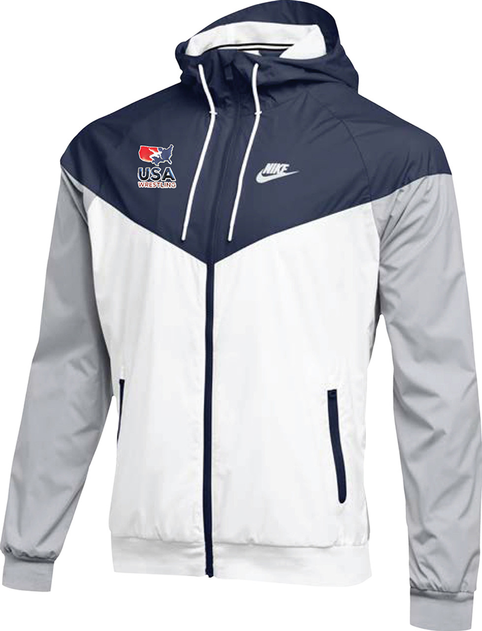 finest fabrics biggest selection durable in use Nike Men's USAWR NSW Windrunner Jacket - Navy/Red/White/Navy
