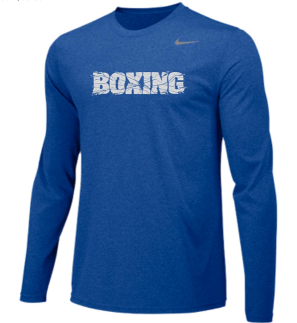 da7bd89dd17 Nike Men's Boxing Team Legend LS Crew -Royal/Silver