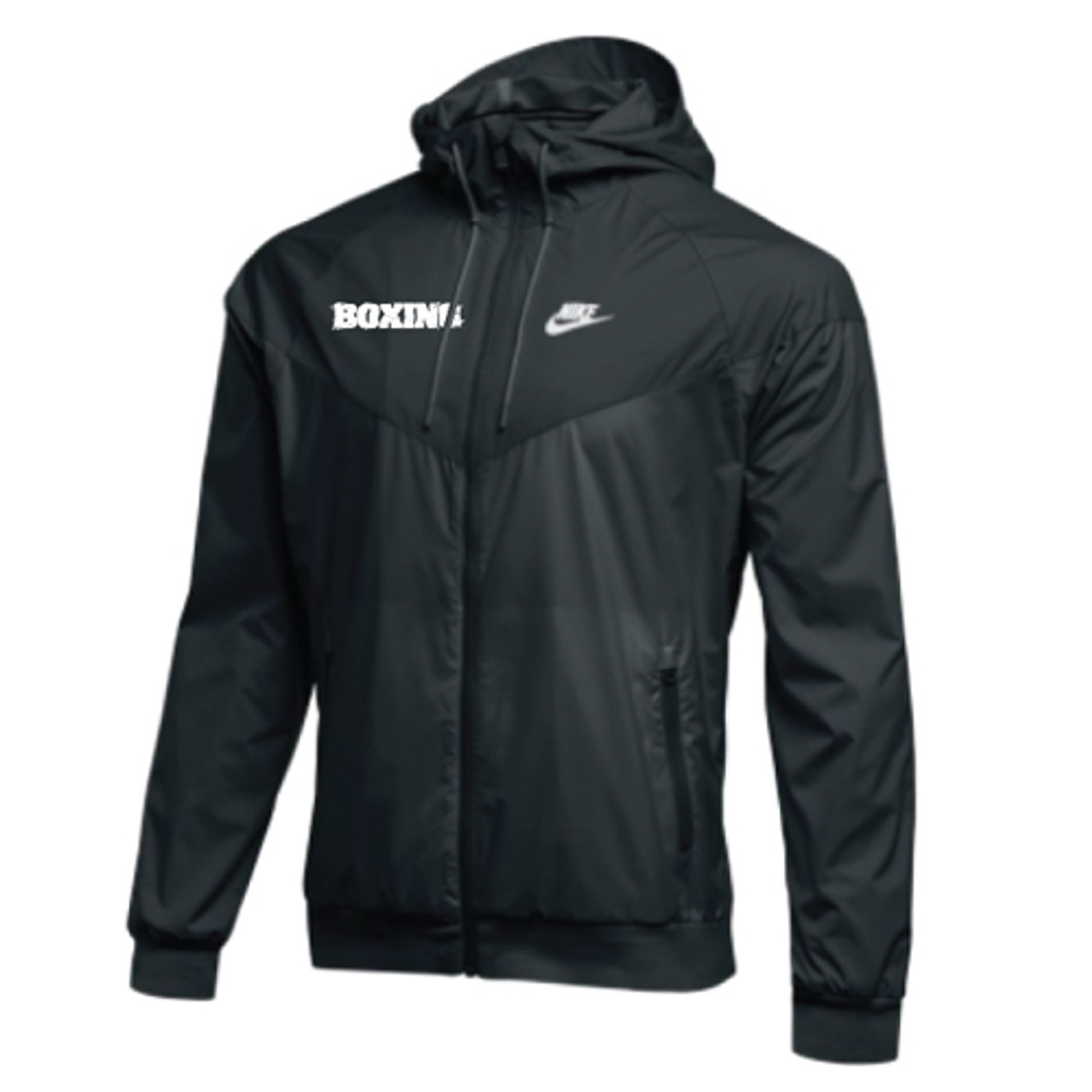 Nike windbreaker white black grey