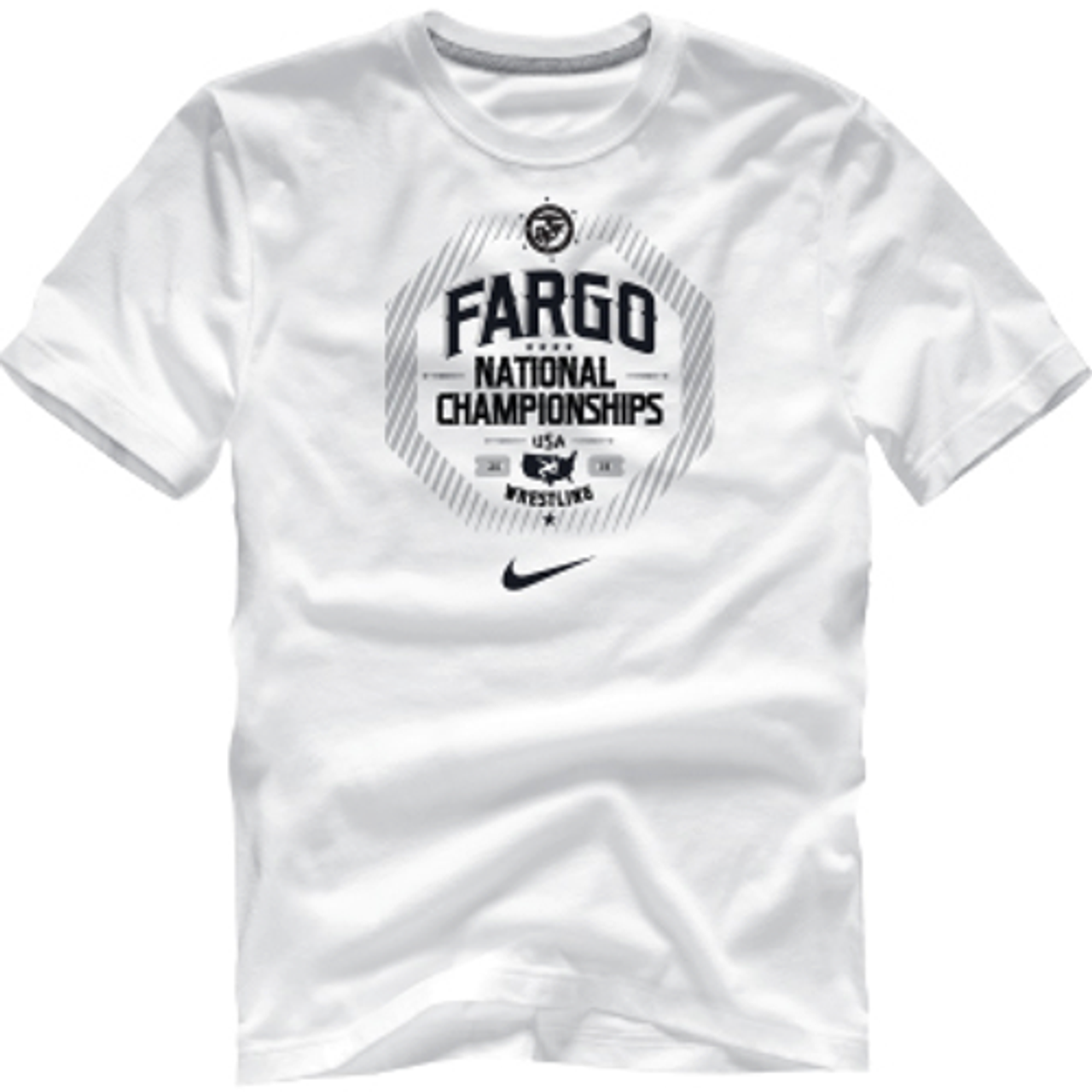 sabio Birmania Albany  Nike Men's Fargo National Championships Cotton Tee - White