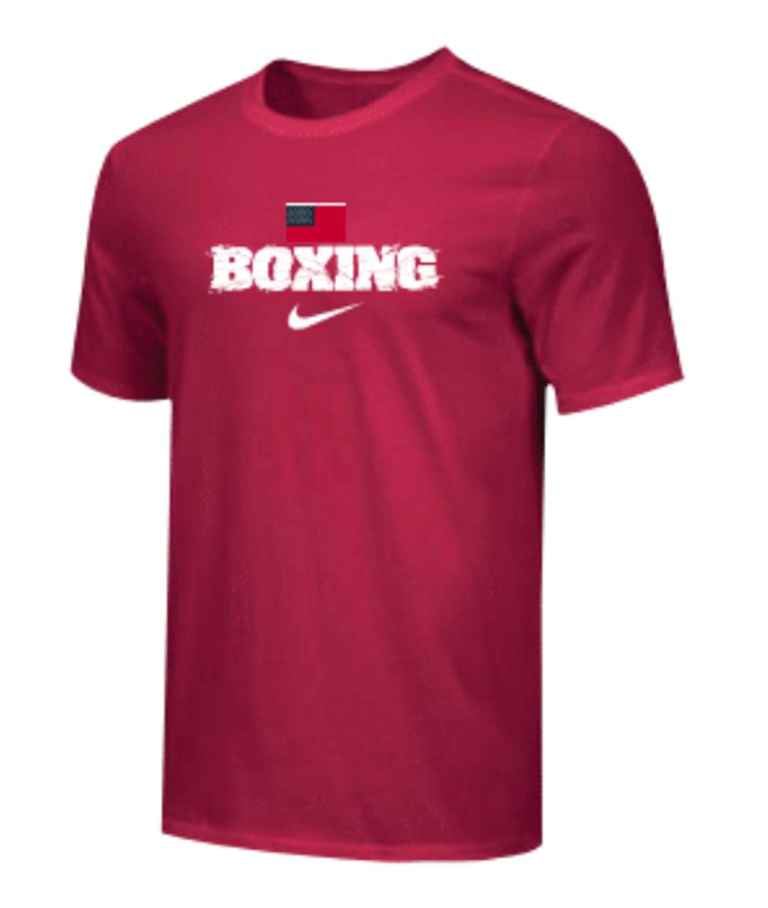 Especializarse Cobertizo Pendiente  Nike Men's Boxing USA Flag Tee - Red