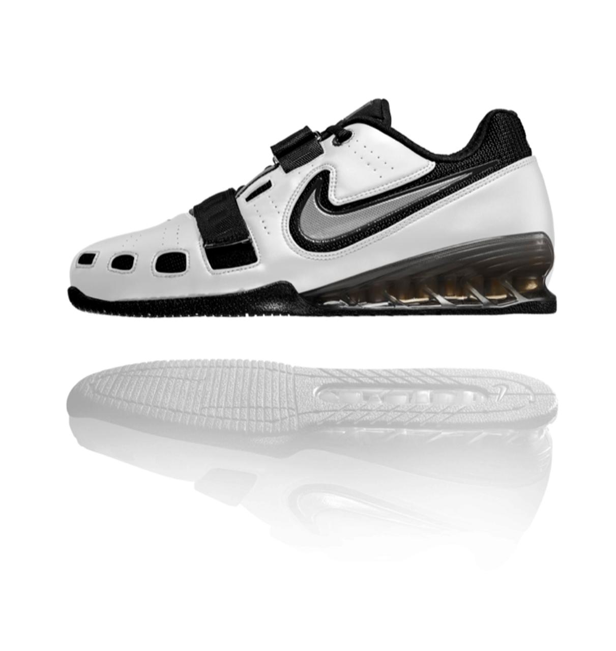 2960dafa5a68a6 Nike Romaleos 2 Weightlifting Shoes White   Charcoal Grey