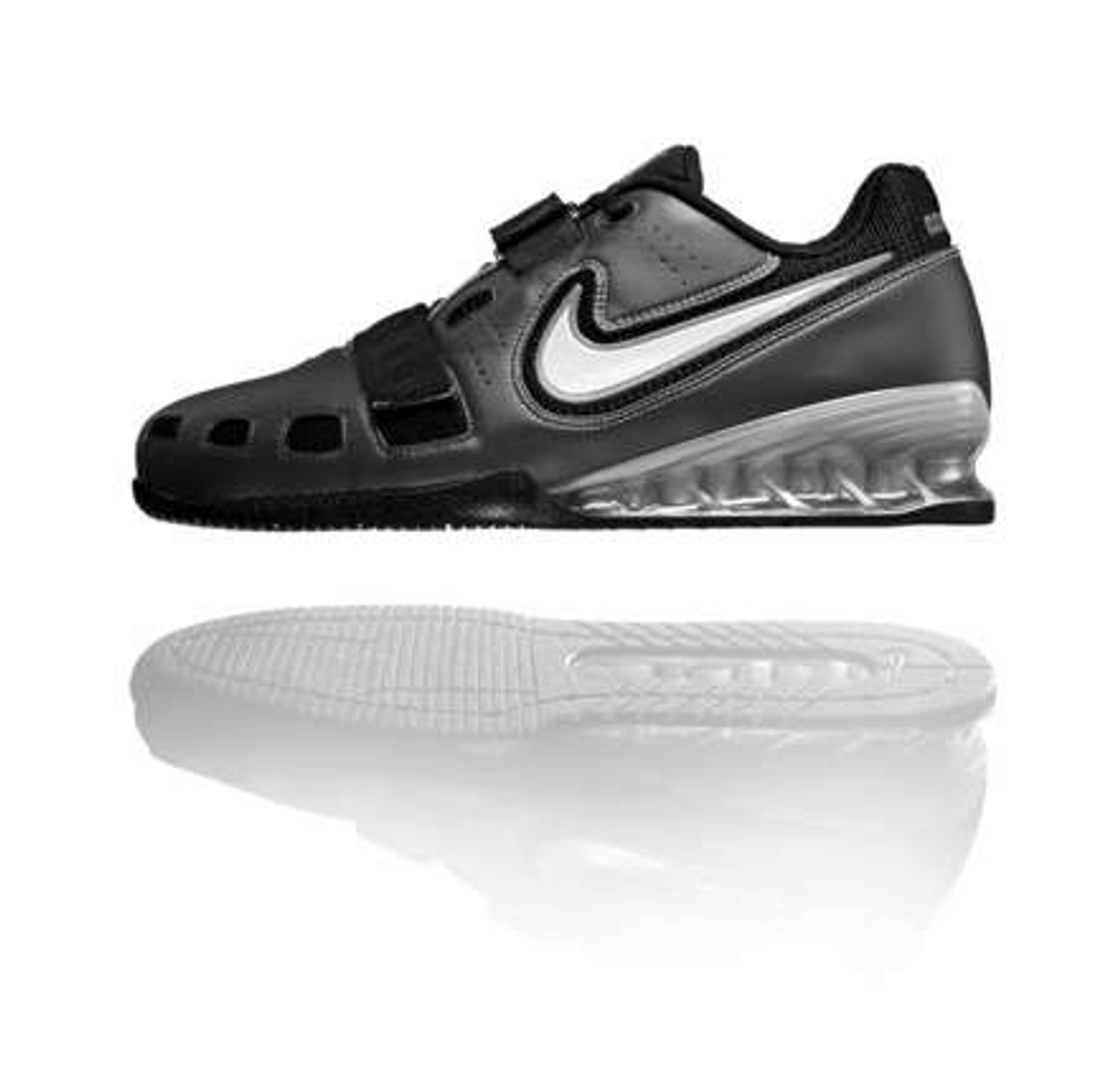 112ee713c7d73 Nike Romaleos 2 Weightlifting Shoes - Black   White   Grey