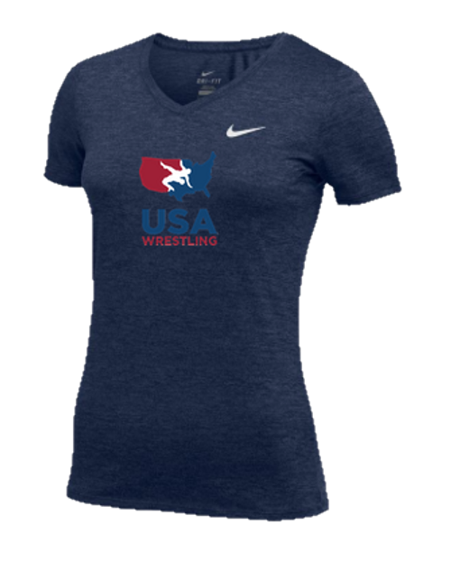 Nike Women's USAWR Team Dri Legend Tee - Navy/Red/White/Navy