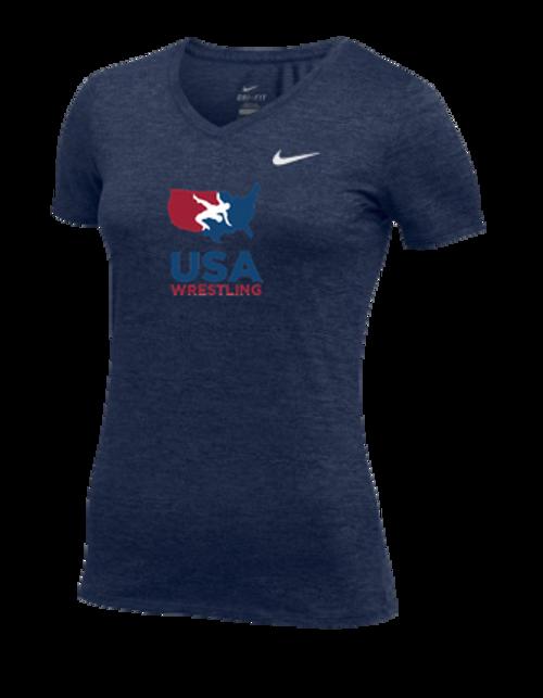 Nike Women's USAWR Team Dri Legend Tee - Navy/Red/White/Navy