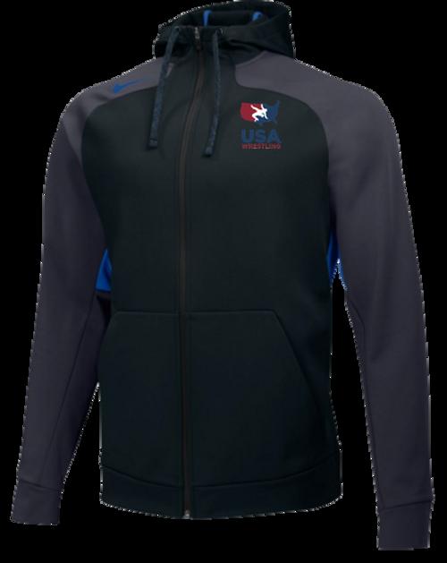 Nike Men's USAWR Team Hyperspeed Fleece FZ Hoodie - Black/Red/White/Navy