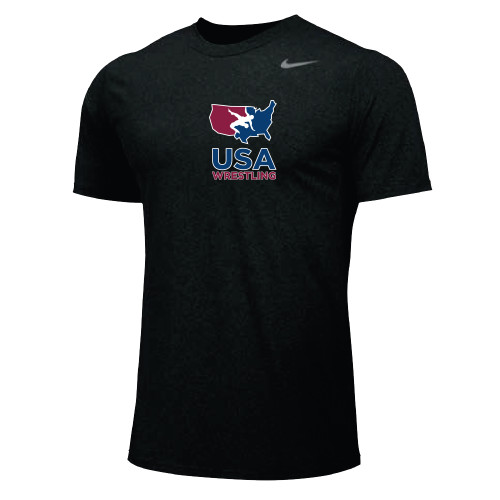 Nike Men's USAWR Team Legend SS Crew - Black