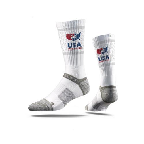 Unisex USAWR Crew Sock - White