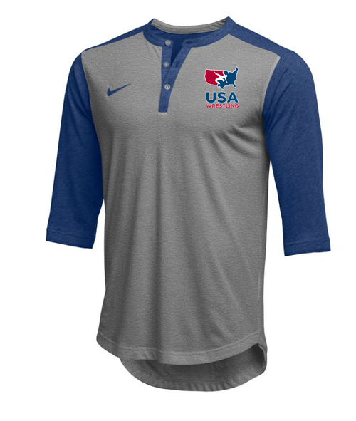 Nike Men's USAWR  Flux Henley - Royal/Red/White/Navy