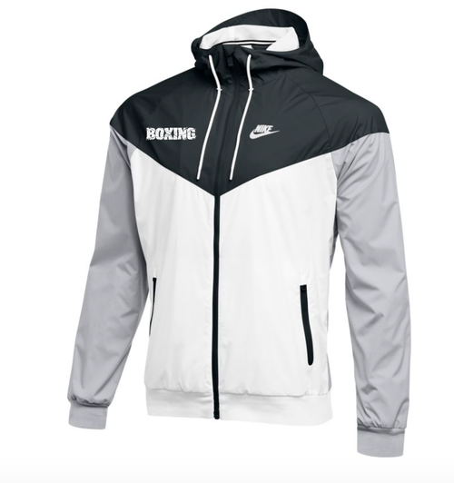 Nike Men's Boxing NSW Windrunner Jacket - White/Black