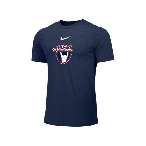 36fb1c3d1bf4 Nike Men s USAW Short Sleeve Dri Fit Hyper Tee - Navy White