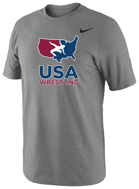 Nike Men's USAWR 3-D High Density Silicone Logo Team Legend SS Crew - Grey