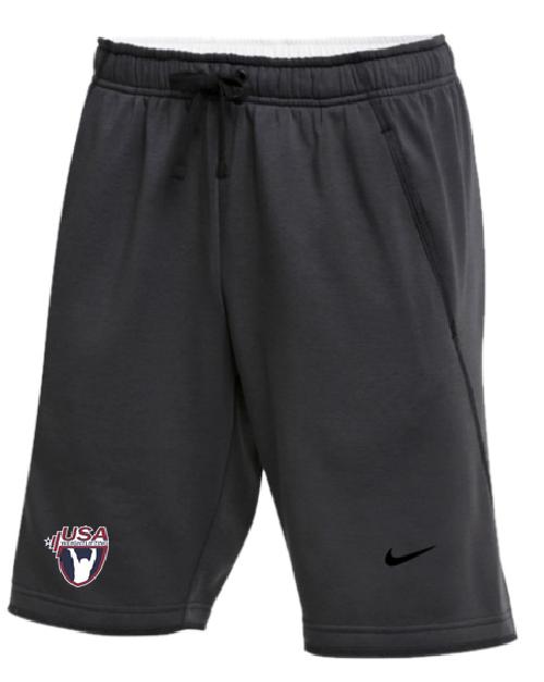 Nike Men's USAW Flux Short - Charcoal Heather/Black