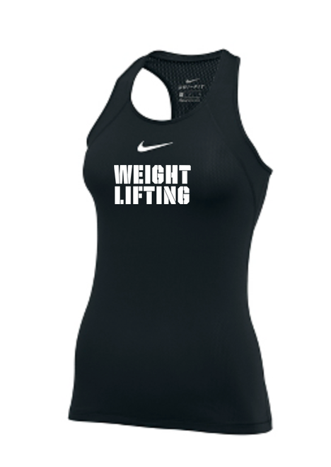 the latest 84bca b38c7 Nike Women s Weightlifting Pro Tank - Black White