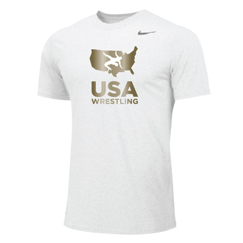 9daa94f8e Nike Men's USAWR Dri-Fit Cotton Tee - White/Metallic Gold