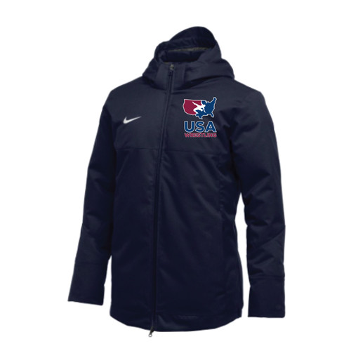 Nike Men's USAWR Team Down Filled Parka - Navy/White