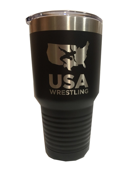 USAWR Polar Camel Tumbler - Black/Silver