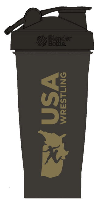 USAWR Blender Bottle - Black/Gold