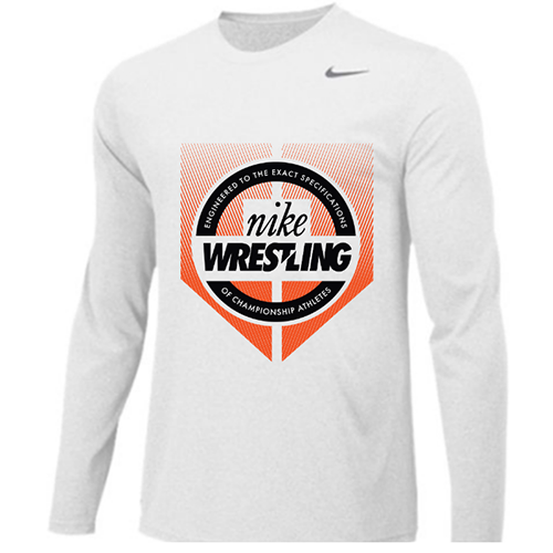 c86dca0b Nike Wrestling Engineered Legend Long Sleeve Crew - Black/Orange