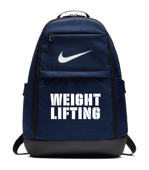 Nike Weightlifting Brasilia Backpack - Navy/White