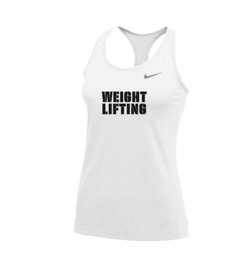 Nike Women's Weightlifting Balance Tank - White/Black