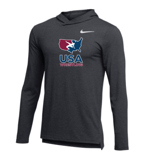 41933b30 Nike Men's USAWR Hyper Dri-Fit Breathe Hoodie - Anthracite/White