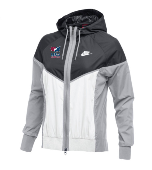 Nike Women's USAWR Windrunner Jacket - Anthracite/White