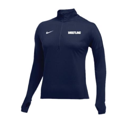 b38541cd Nike Women's Wrestling 1/2 Zip Dry Element Top - Navy/Grey