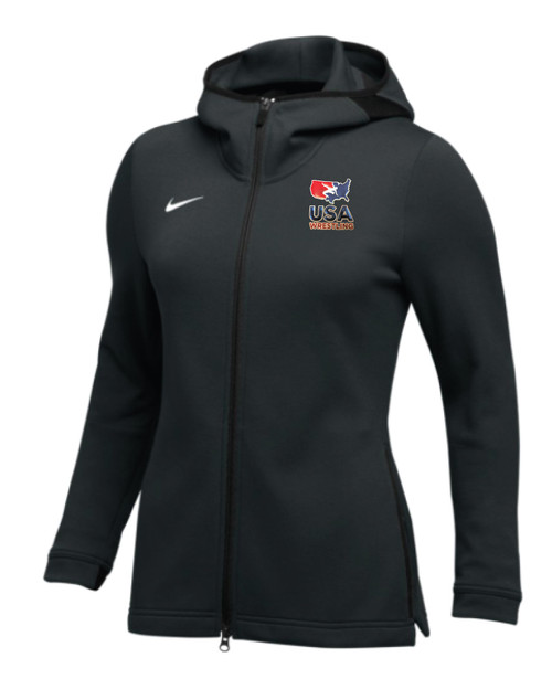 Nike Women's USAWR Dry Showtime Hoodie Full-Zip - Black/White