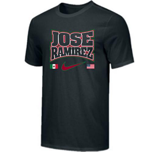 Nike Men's Boxing Jose Ramirez Flags Cotton Tee - Black/White