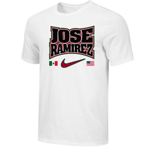 Nike Men's Boxing Jose Ramirez Flags Cotton Tee - White/Black