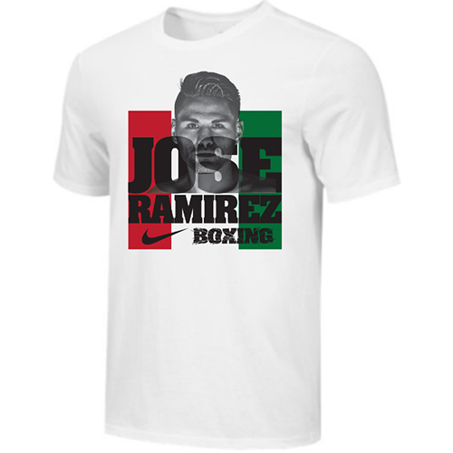 Nike Men's Boxing Jose Ramirez Photo Cotton Tee - White/ Black